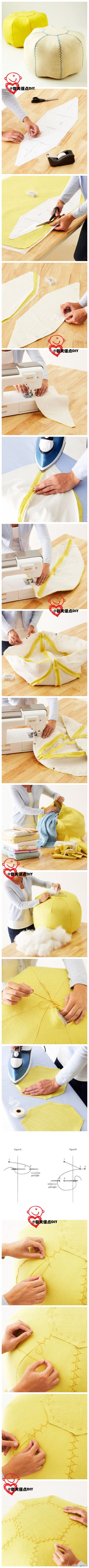 CushionsIdeas, Sewing, Diy Crafts, Inspiration Pictures, Floors Cushions, Beans Bags, Poufs Ottoman Diy, Diy Poufs, Floor Cushions
