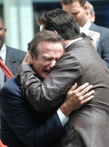 Robin Williams in tears