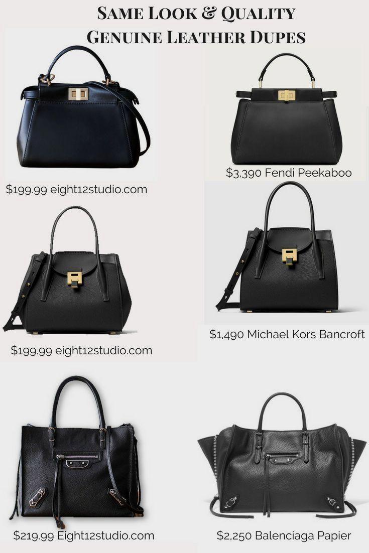 24617df3a35b Designer handbag dupes - same quality leather