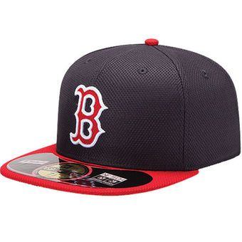 Men's Boston Red Sox New Era Navy/Red On Field Diamond Era 59FIFTY Fitted Hat