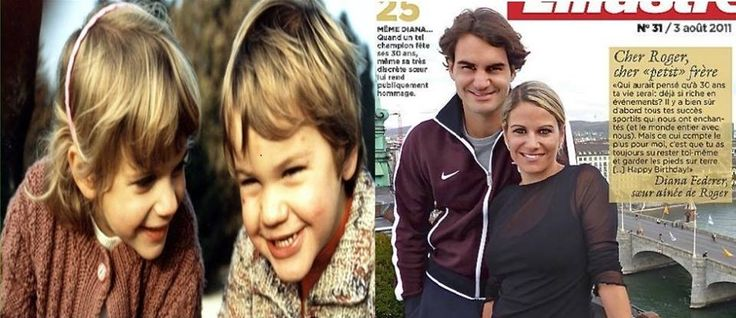 Roger and his sister Diana