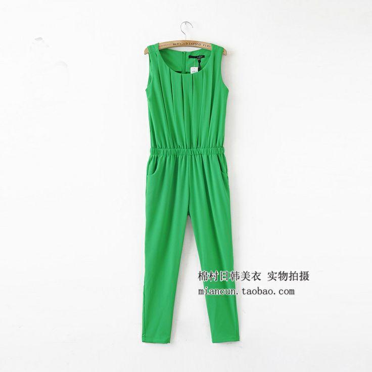 2014 европейских и американских ретро стерео тонкие женские модели жилет плиссированные Брюки комбинезон толстый раздел летний - Taobao