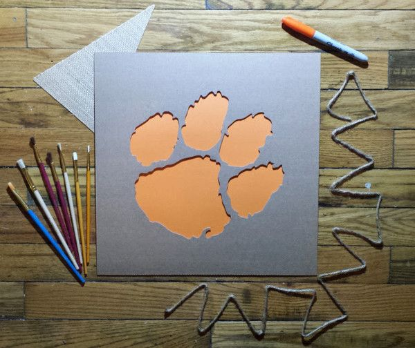 Clemson stencils - perfect for game day decorations, coolers, etc!