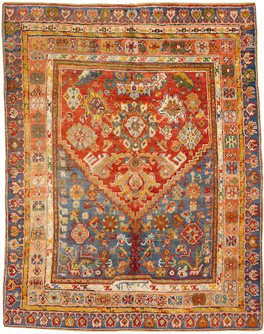 Oushak rug West Anatolia late 19th century size approximately 5ft. x 7ft. 6in.