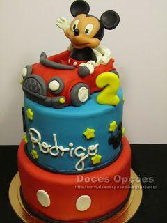 Doces Opções: O Mickey no 2º aniversário do Rodrigo