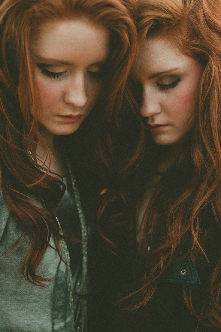 EDEN AND IVY | red head, redhead, ginger, twins, beautiful hair