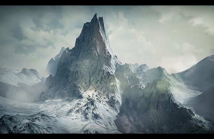 Snowy Mountain - UE4/Substance Designer - polycount