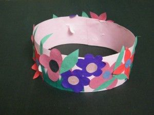 Make Spring Princess or Fairy Flowers Crown Craft for Girls - Kids Crafts & Activities