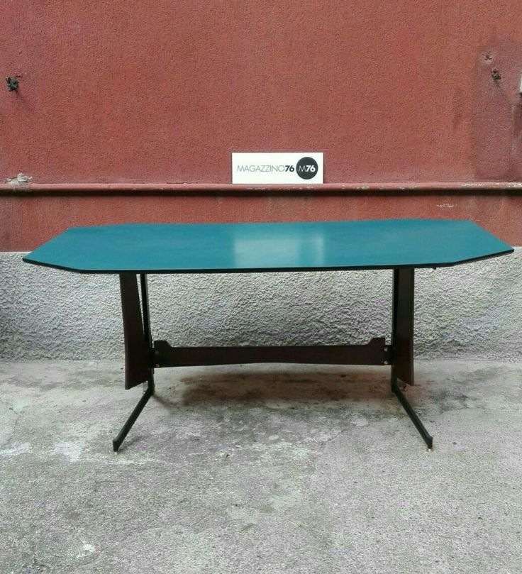 Tavolo anni 60 con piano in formica blu ottanio zampa in metallo nera con inserti in teak. Restaurato perfettamente. Misure 175x86x79 #magazzino76 #milano#viapadova #viapadova76 #nolo #designindustriale #furnituredesign #furniture #mobili #modernfurniture #antik #industriale #furnituredesign #furniture #mobili #modernfurniture #antik #antiquariato #modernariato #armchair #chair #sofa #table #lamp