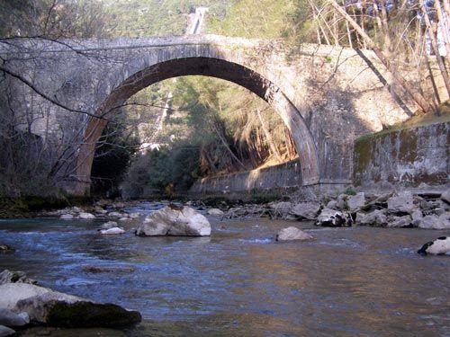 Spathareico Bridge of Ladonas river Arcadia Peloponnese