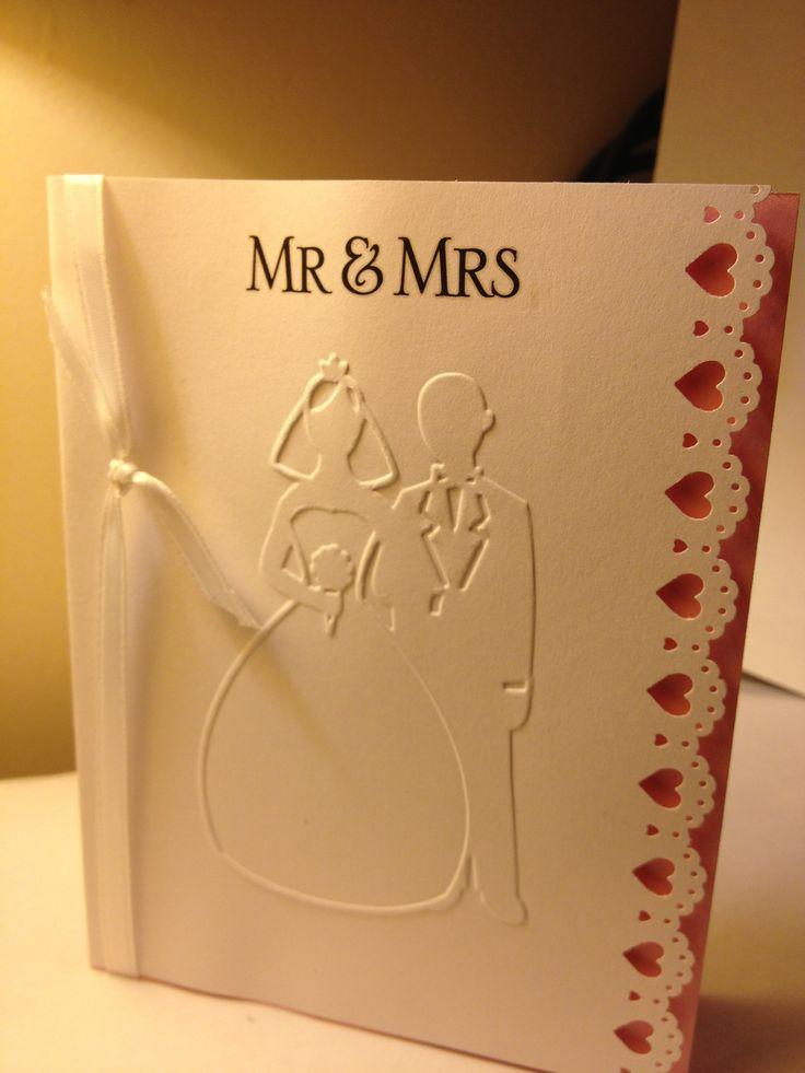 The Folder Of Cute Guys: Stamped Wedding Card-MS Punch & Darice Embossed