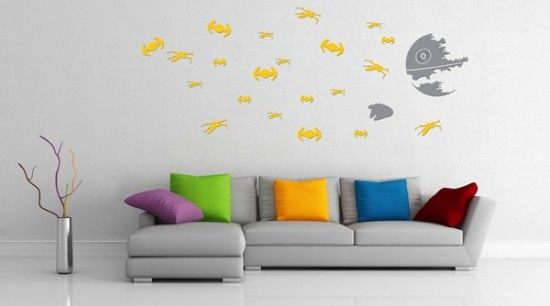 Reenact The Destruction Of The Death Star With These Wall Decals