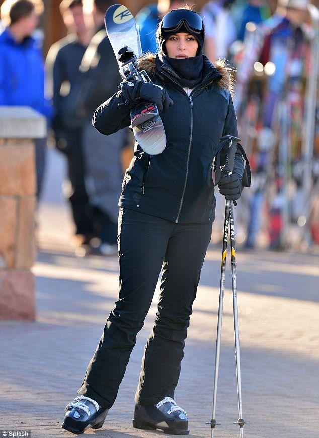 kim kardashian is seen skiing with frenemy paris hilton's
