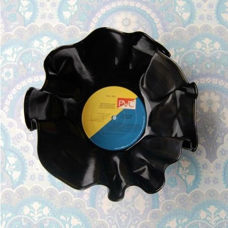Vinylskål/LP redesign GUL/BLÅ
