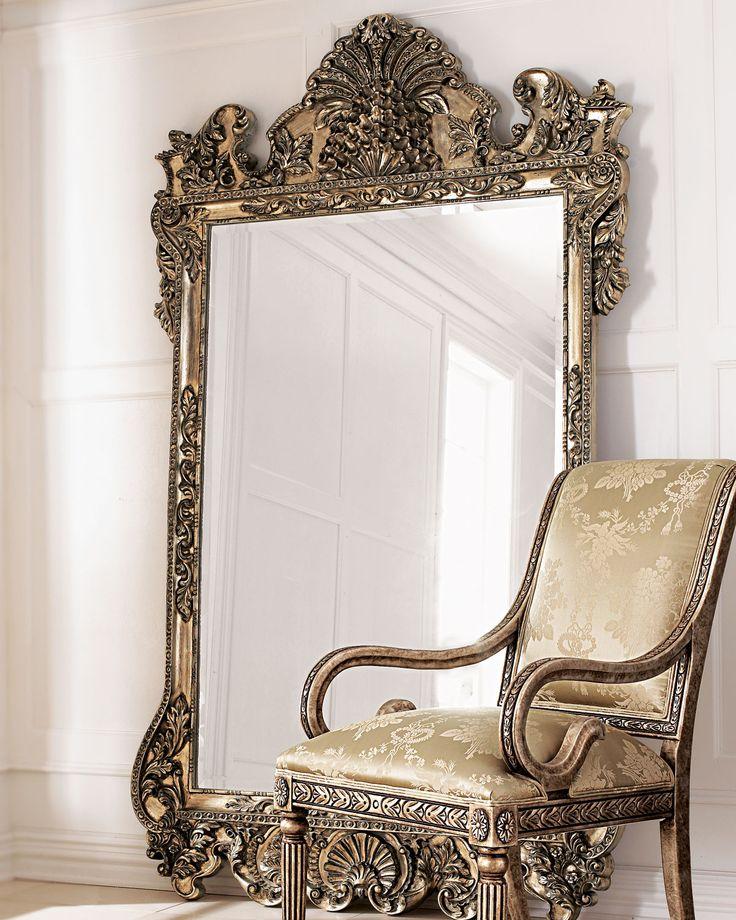 <3 Damatically sized mirror stands a commanding seven feet tall.