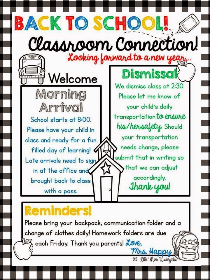 Little Miss Kindergarten-Lessons From the Little Red Schoolhouse! $A year of editable newsletter templates. Spend your time on your message and content instead of formatting and decorating!