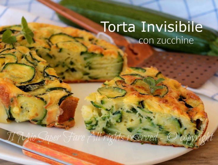 Torta invisibile di zucchine ricetta salata facile