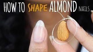 como fazer unha amendoada - YouTube