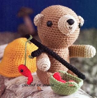 Fishing, Free crochet and Bears on Pinterest