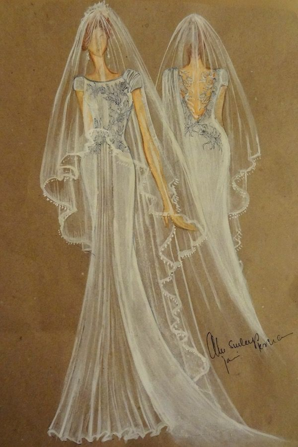 Gorgeous Wedding Dress Sketch by Jani & Khosla - I'd love to see the real thing!