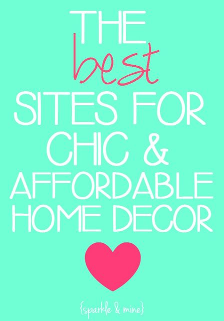 Pin Now, Read Later: The BEST sites for super affordable home decor! This is seriously a lifesaver for anyone who's moving into a new place or just wants to spruce up their room without breaking the bank! Pin now- shop later!!