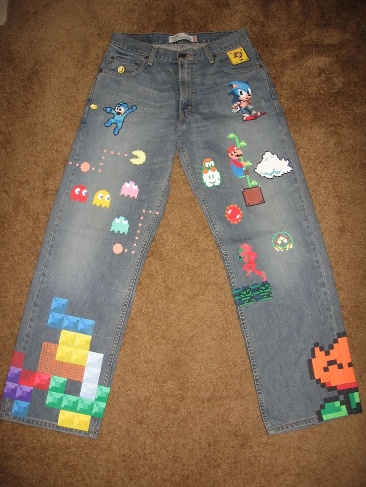 Retro Jeans Deliver The Ultimate Gaming Geek Fashion