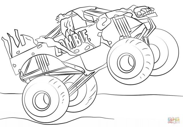 Brilliant Picture Of Monster Trucks Coloring Pages With Images