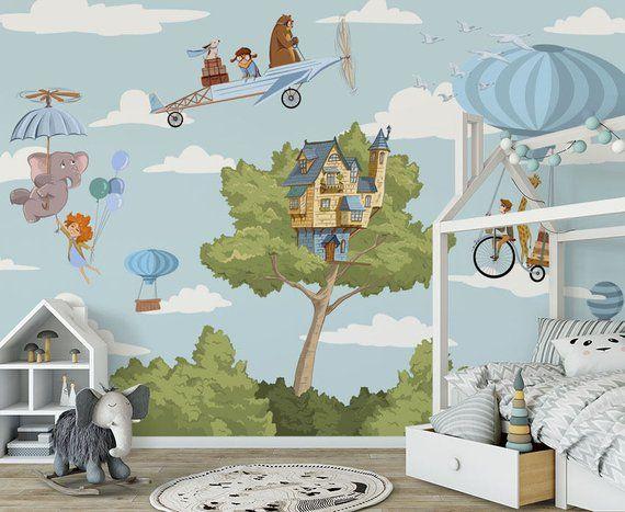 Children mural, Children wallpaper, mural animals, wallpaper ...