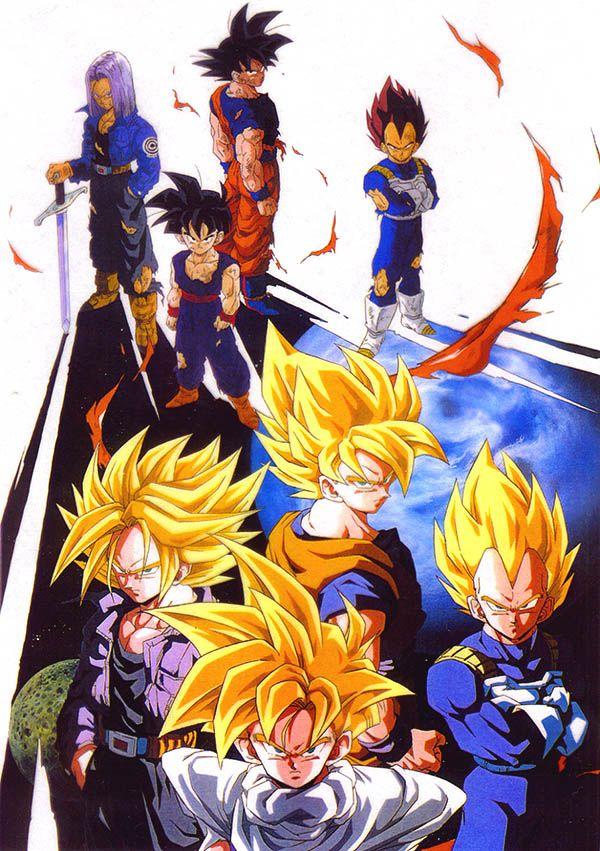 Dragon Ball - Trunks, Gohan, Goku, and Vegeta