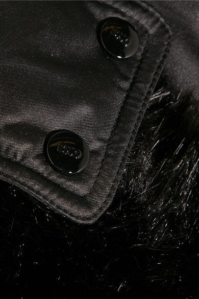Topshop Sno - Bowie Faux Fur-trimmed Quilted Ski Jacket - Black - UK12
