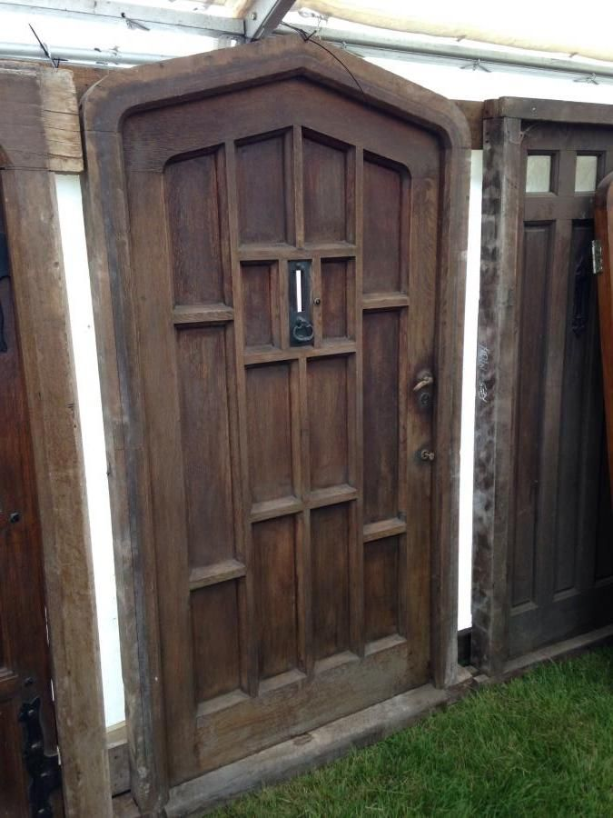 Reclaimed solid oak front door with frame for sale on SalvoWEB from  Architectural Salvage Source in - 44 Best Doors - Reclaimed & Antique For Sale Images On Pinterest
