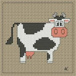 This is from a site that used to have hundreds of French cows to cross stitch. found the template, but not the charts.