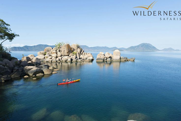 Wilderness Safaris – Paddling on Lake Malawi around Mumbo Island. #Safari #Africa #Malawi
