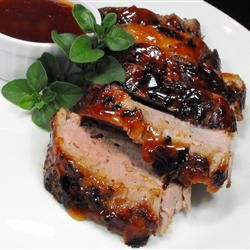 Chili Rubbed Pork Tenderloin With Apricot Ginger Glaze   -Allrecipes.com  Using this rub and glaze on thinly sliced pork chops with stir-fry veggies and maifun rice stick noodles tonight.
