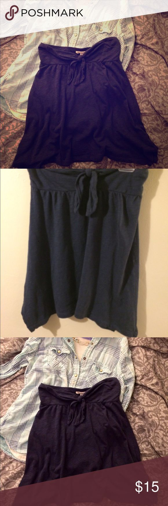 American Eagle Outfitters Knotted Skirt Soft Blue flowing skirt size XS in great condition. American Eagle Outfitters Skirts