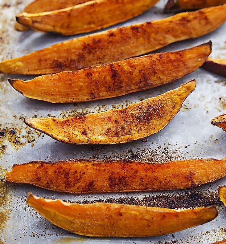 Spicy Baked Sweet Potato Wedges are a great alternative