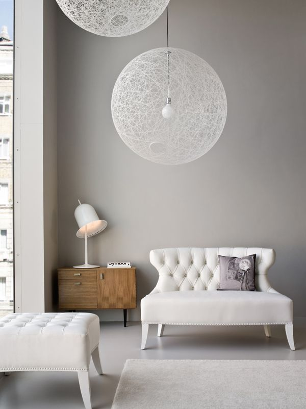 DECOR ; INTERIORS ; ROOMS ; White + grey #relaxed #decor #whitesettee