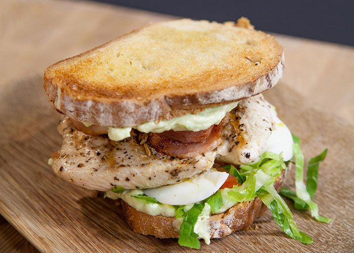 Chef Zola Nene shows us how to make this fresh and tasty cobb salad sandwich!
