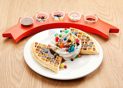 NEW Create you own waffle at Spur Steak Ranches | http://www.spur.co.za/menu/kids-menu