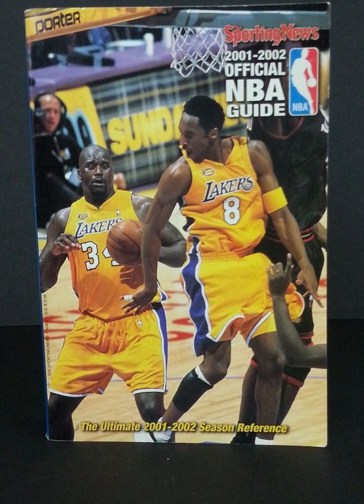 Sporting News NBA Guide Official 2001-2002 Lakers Basketball