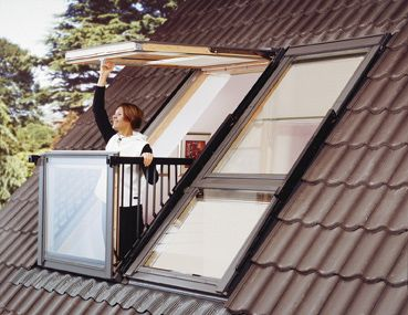 VELUX GDL SK0W222 Cabrio Double Balcony System, Tile Roof