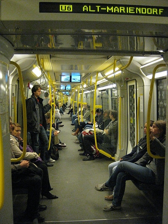 Travelling by Train to Kreuzberg - Berlin