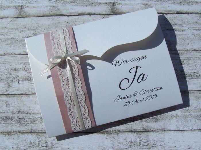 Einladung Hochzeit Bogenkarte Klein Vintage Spitze Misty Rose Stk. 2,95 U20ac  Www.