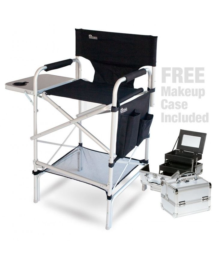 Pro Makeup Artist Chair / Case Combo w/Side Table (Free $30.00 Value)