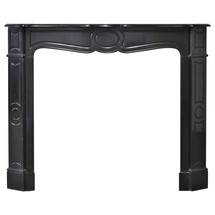 Antique Black Marble Pompadour Style Fireplace Mantel, 19th Century | From a unique collection of antique and modern fireplaces and mantels at https://www.1stdibs.com/furniture/building-garden/fireplaces-mantels/