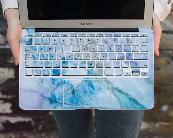 info for b4799 881f7 Marble Keyboard Skin Touchpad Sticker Blue Macbook Pro 13 Mac Air 11 ...
