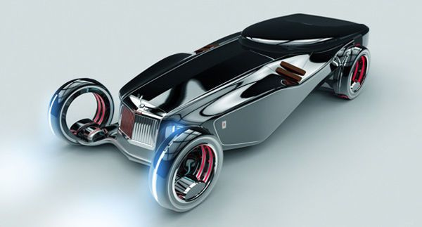 Futuristic Vintage Concept Cars - This Rolls Royce Concept Car Features Improved Maneuverability (GALLERY)
