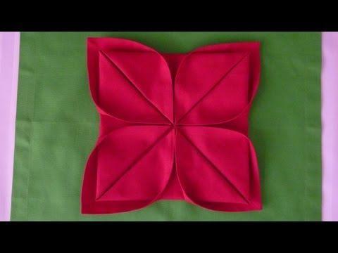 Servetten vouwen: Kerstster - YouTube