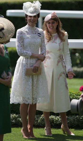 The British Royal family attend the Royal Ascot 2017 ...
