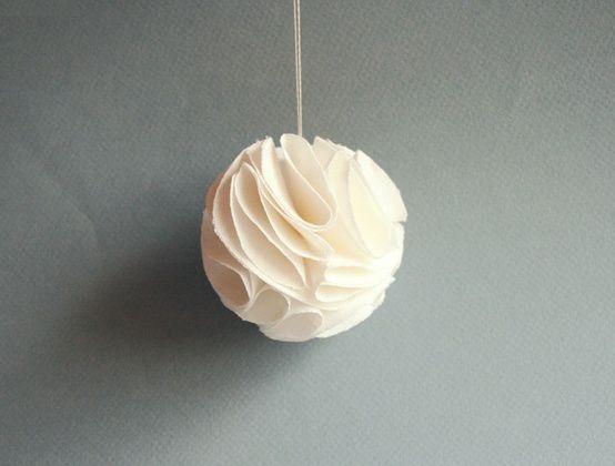 Les 50 meilleures images propos de d co noel sur - Fabrication de boule de noel en papier ...